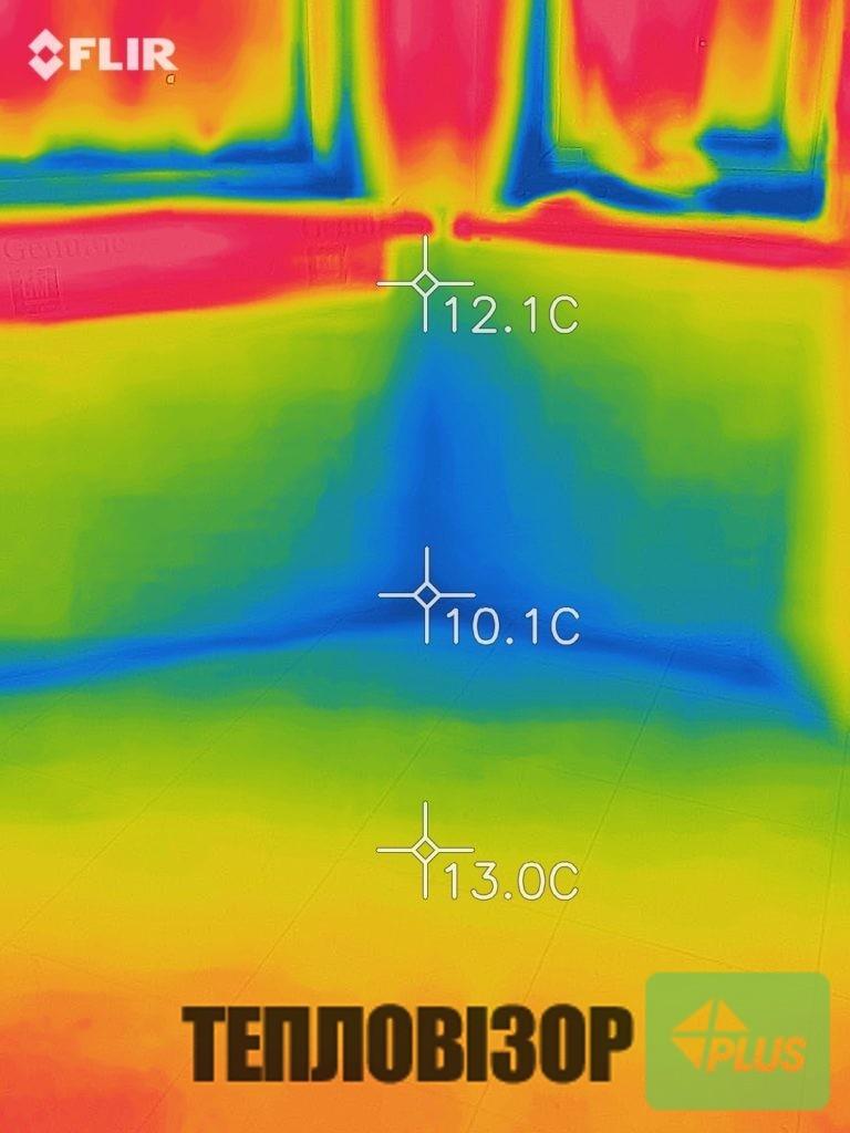 Обстеження тепловізором будинку в селі Малі Підліски Львівської області