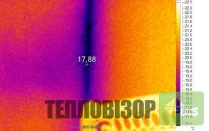 Термограма з тепловізора горячий метал